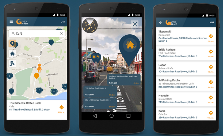 GeoFindIT App adds new dimension with Augmented Reality feature