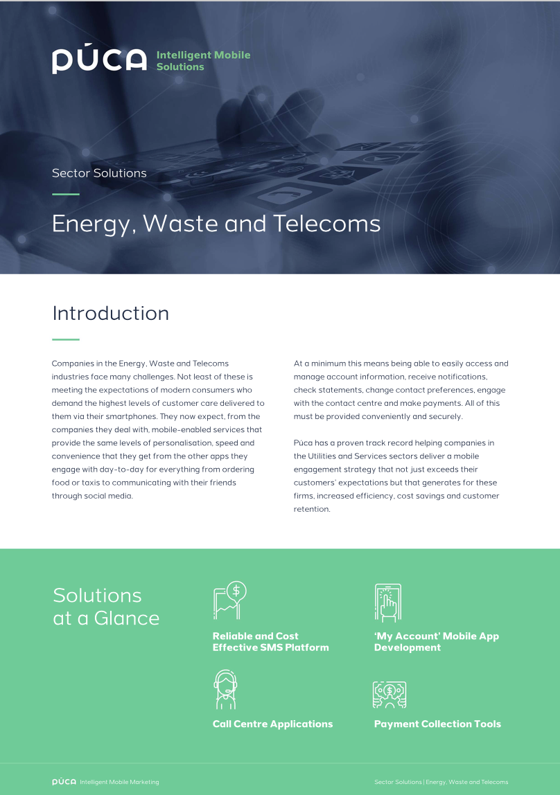 Sector Solutions: Energy, Waste and Telecoms